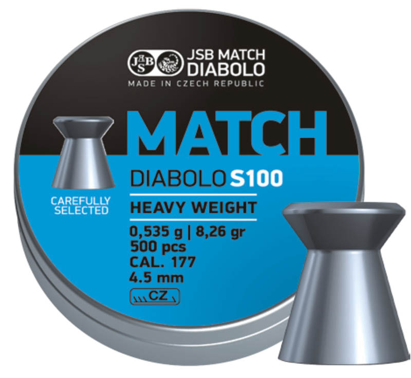 Diabolo JSB MATCH S100 500 ks cal.4,5mm