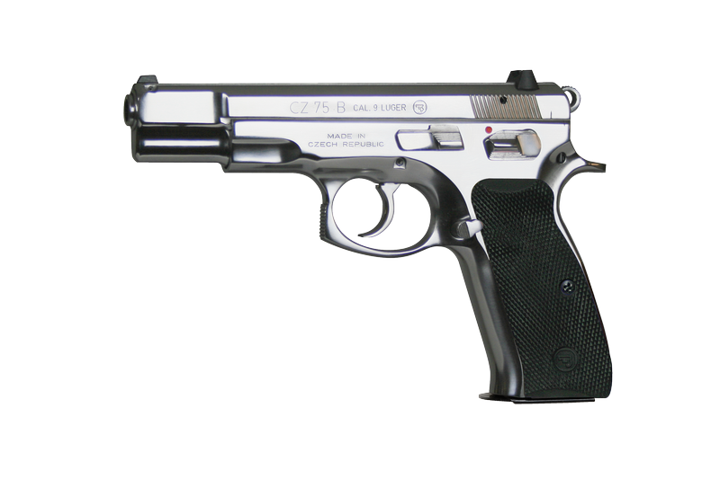 CZ 75 B 9mm Luger, stainless steel (LESK. POVRCH. ÚPRAVA)